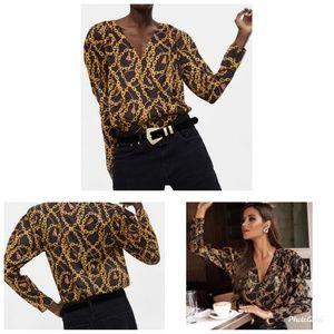 Zara Chain Print Bodysuit